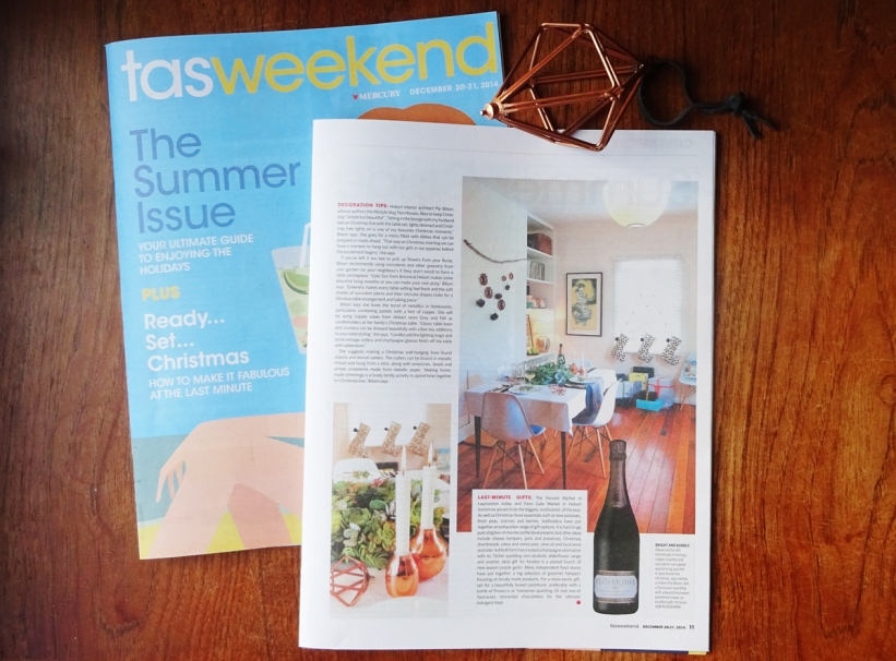 Pip's Christmas styling in TasWeekend